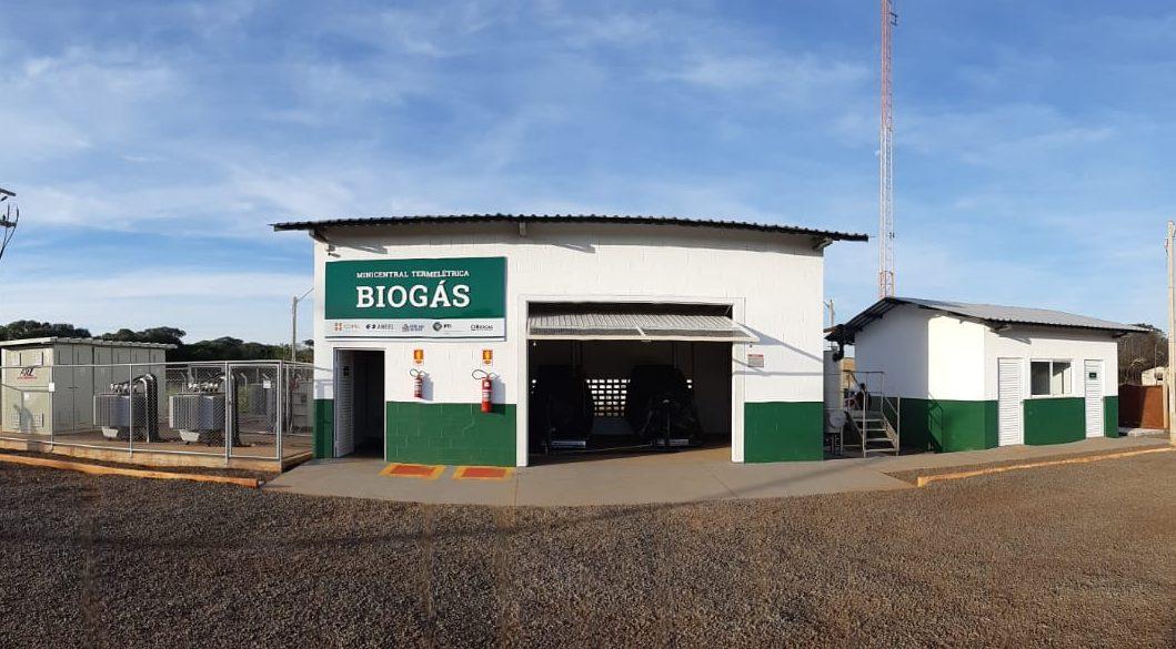 Minicentral termelétrica de biogás
