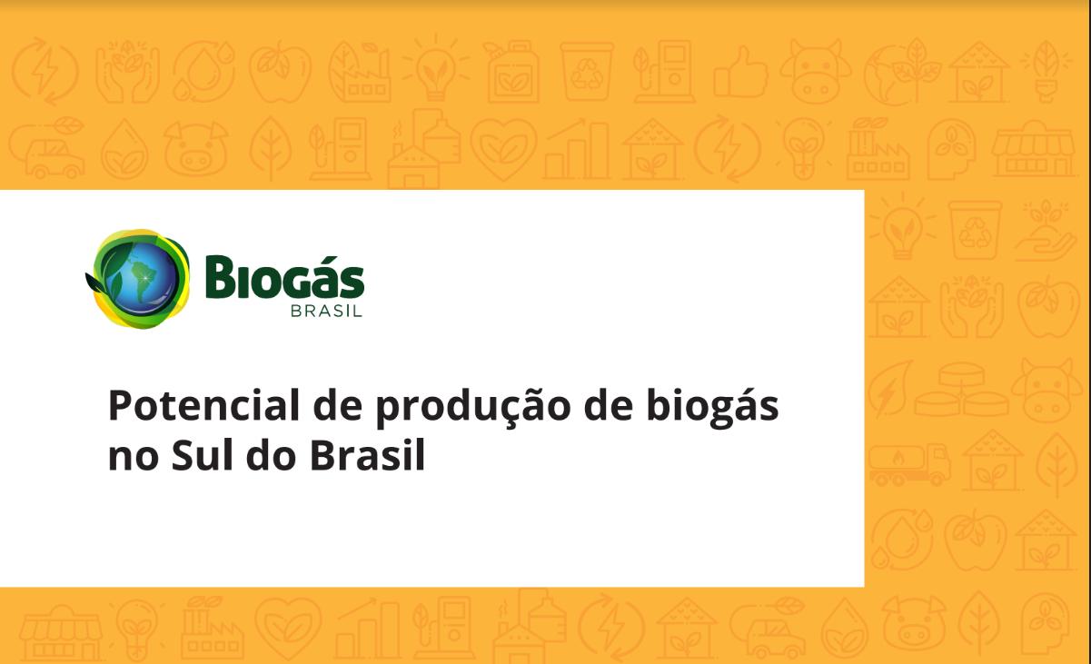 Potencial de produção de biogás Sul do Brasil. (2)