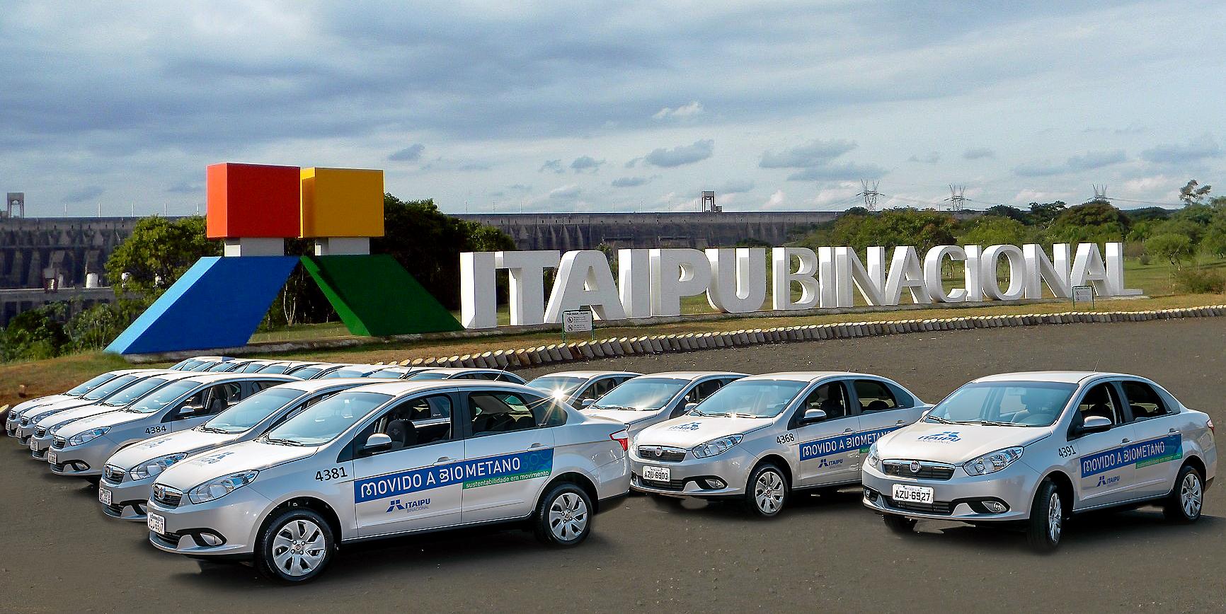 O biometano movimenta 40 veículos da frota do complexo Itaipu.