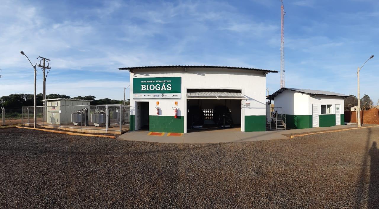 Biogás é convertido em energia elétrica e abastece prédios públicos em Entre Rios do Oeste - PR.
