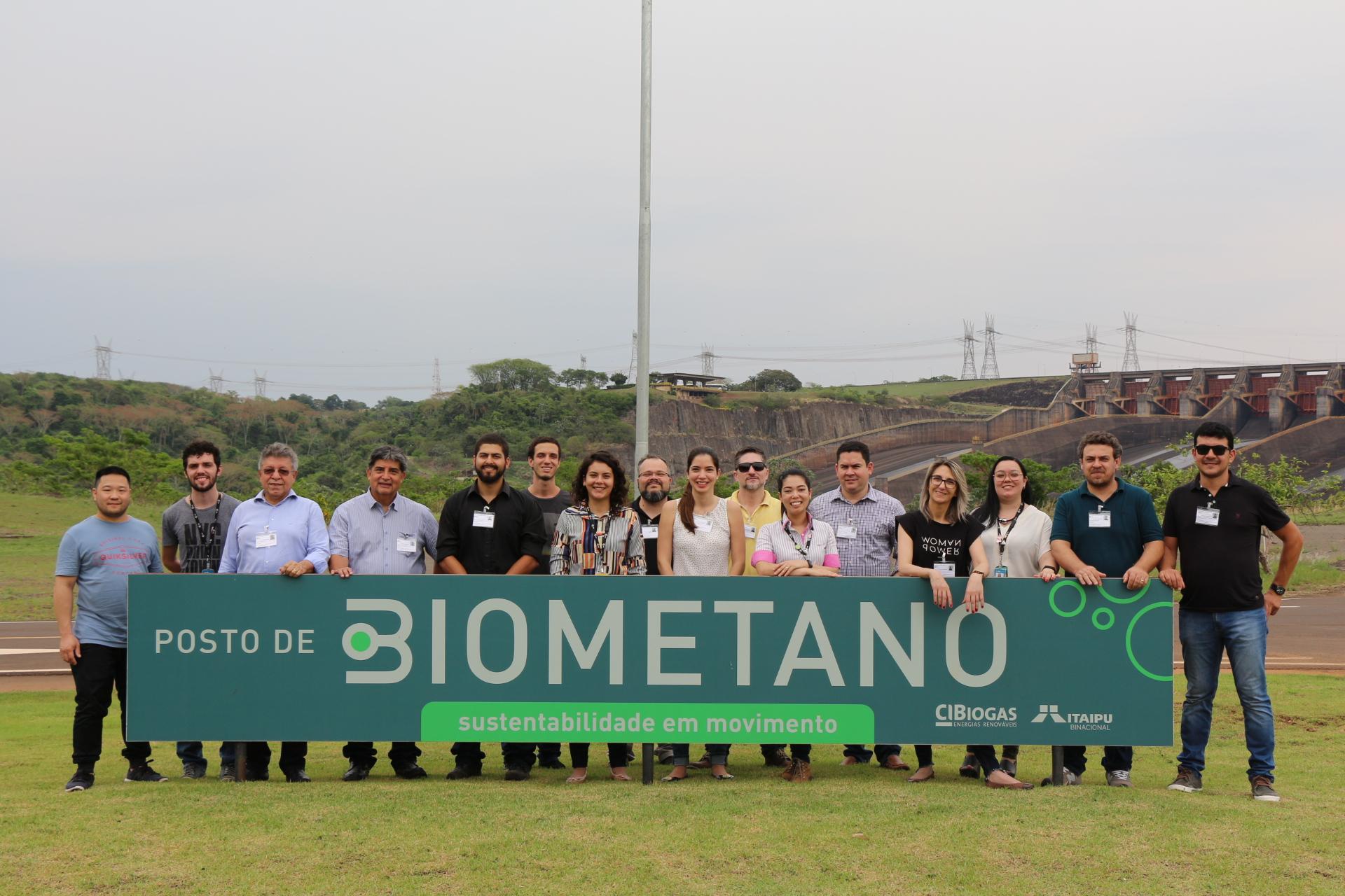 Treinamento realizado em 2019 nas dependências do CIBiogás e complexo da Itaipu Binacional.